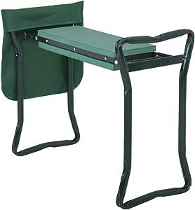 Pelle Bella Folding Garden Kneeler Bench Kneeling Soft Eva Pad Seat with Stool Pouch