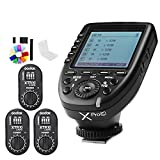 Godox XPro-C Flash Trigger Transmitter with E-TTL II 2.4G Wireless X System HSS LCD Screen + 3x XTR-16 Receiver for Canon