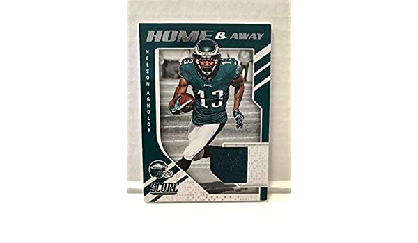 ccf01205 Amazon.com: 2018 Score Home and Away Football #3 Nelson Agholor ...