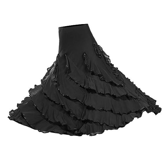 Baoblaze Vestido de Flamenca Ropa de Baile Accesorios de Mujer ...