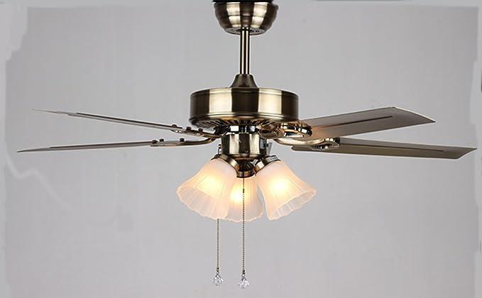 Lighsch home decor e ventilatori a soffitto con lampada in stile