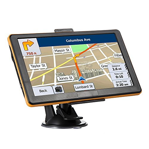 GPS Navigation for Car 7 Inches Widescreen Capacitive Touch Screen 8GB Portable Car Navigation Systems, Portable Navigation Built-Date Map Data and Free Lifetime Map Updates by KYXHEART