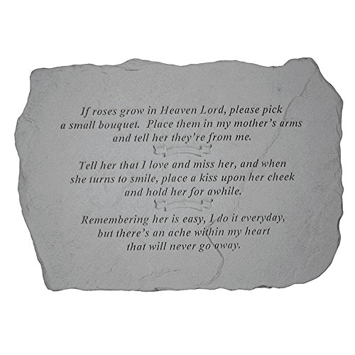 Design Toscano If Roses Grow in Heaven: Cast Stone Memorial Garden Marker