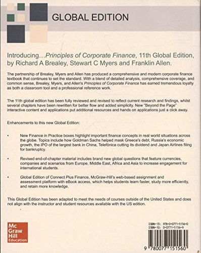 Principles of corporate finance amazon richard a brealey principles of corporate finance amazon richard a brealey stewart c myers 9780077151560 books fandeluxe Image collections