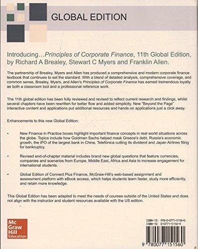 Principles of corporate finance amazon richard a brealey principles of corporate finance amazon richard a brealey stewart c myers 9780077151560 books fandeluxe Gallery