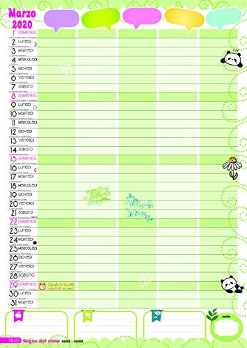 Calendario Marzo 2020.Calendario Agenda Della Famiglia 2020 My Family