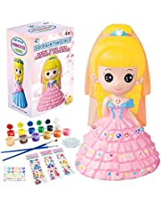 Yileqi Paint Your Own Princess Painting Kit for Kids, Princess Paint Craft for Girls Arts and Crafts for Kids Age 4 5 6 7 8 9 10 Years Old, Art Supplies Party DIY Kid Activities Kit Birthday Gift