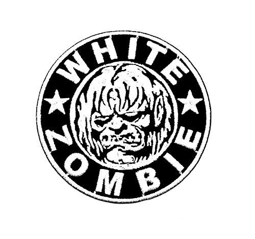 Aruno maison White Zombie Rock Band Punk DIY Iron Sew On Embroidered Patch for Denim Jacket Vest Cap -