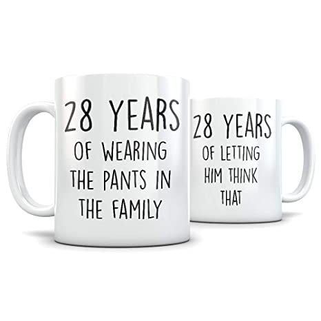 28th Anniversary Gift for Couple - Funny 28 Year Wedding Anniversary for Men and Women -  sc 1 st  Amazon.com & Amazon.com: 28th Anniversary Gift for Couple - Funny 28 Year Wedding ...