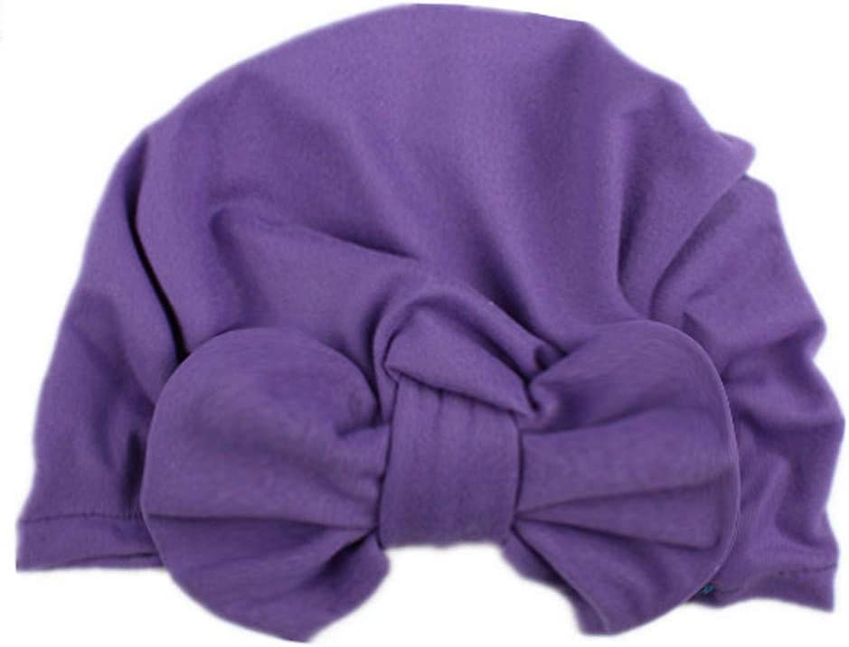 Pageantry Baby Hat for Girl Soft Organic Cotton Cute Baby Turban for Infant Toddler Dark Green-19.5 * 17.5