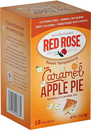 Red Rose Sweet Temptations Caramel Apple Pie Tea, 18 Tea Bags (Pack of 6)