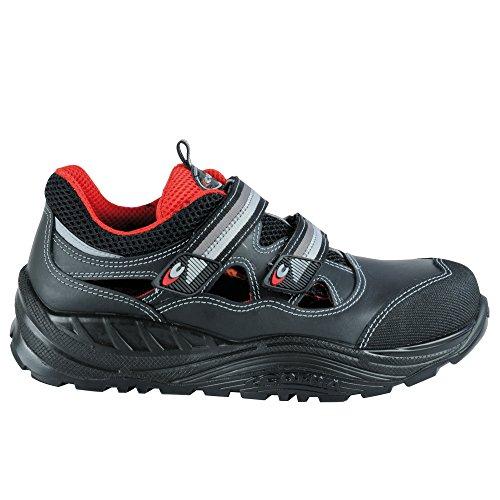 Cofra Sicherheitssandalen Bakasa Maxi Comfort 55070-000, Sicherheitsschuhe S1 P SRC, Größe 44, schwarz, 55070-000