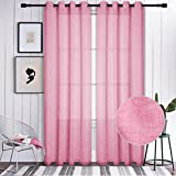 Voilybird Pink Semi Sheer Curtains/Drapes for Girls Bedroom - Best Reviews Guide
