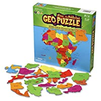 GeoToys - GeoPuzzle Africa and the Middle East - Educational Kid Toys for Boys and Girls, 65 Piece Geography Jigsaw Puzzle, Jumbo Size Kids Puzzle - Ages 4 and up