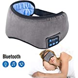 Sleep Headphones Bluetooth Wireless Eye Mask - Homder Headphones Travel Sleeping Headband Built-in Speakers Microphone Handsfree Adjustable Washable