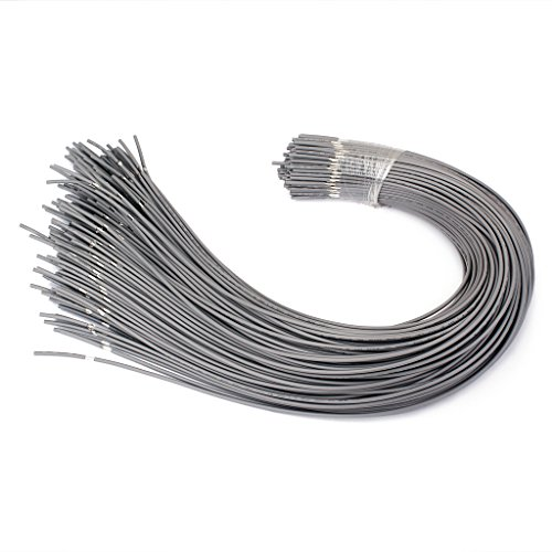 MonkeyJack Set of 20 Shielded Guitar Circuit Wire Single Conductor Grey Instrument - Single Conductor Wire
