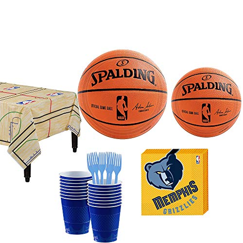 Party City Memphis Grizzlies Party Kit 16 Guests,