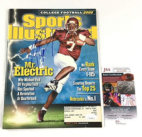 Michael Vick Autographed Signed Memorabilia Sport Illustrated Magazine - JSA Authentic