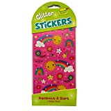 Sparkly Glitter Stickers - Glitter Rainbows and Stars