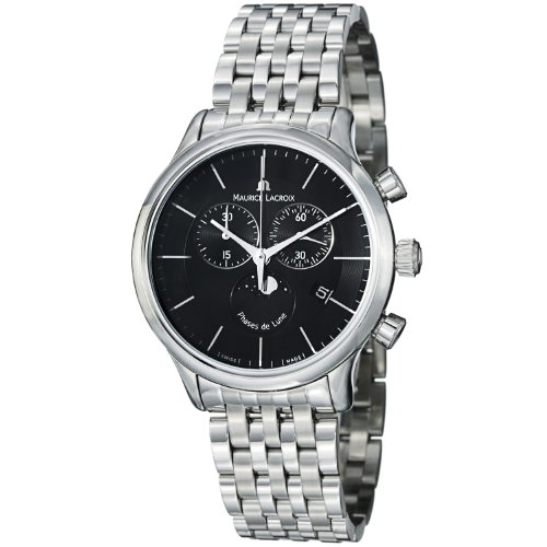 Maurice Lacroix Men's LC1148-SS002331 Les Classiqu Black Chronograph Dial Watch