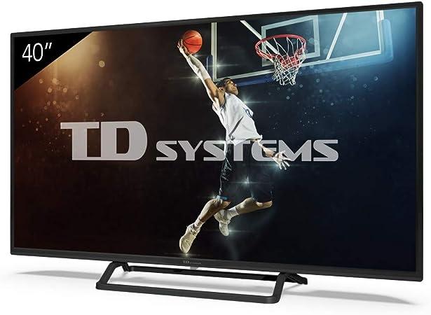 Televisiones Smart TV 40 Pulgadas Android 9.0 y HBBTV, 1100 PCI Hz, 3X HDMI, 2X USB. DVB-T2/C/S2, Modo Hotel - Televisores TD Systems K40DLX11FS: Amazon.es: Electrónica