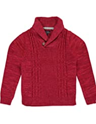 "Nautica Big Boys' ""Underwater Cable"" Sweater - red, 8"
