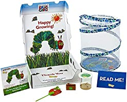 Insect Lore World of Eric Carle, The Very Hungry Caterpillar Butterfly Growing Kit with Live Caterpillars