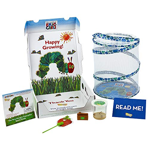 (Insect Lore World of Eric Carle, The Very Hungry Caterpillar Butterfly Growing Kit with Live Caterpillars)