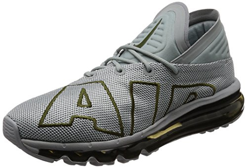 NIKE Men's Air Max Flair Running Shoes, Light Pumice/Legion Green, 9 D(M) US