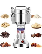 Moongiantgo Electric Grain Mill Grinder 150g Commercial Spice Grinder 850W Superfine Powder Grinding Machine Stainless Steel Pulverizer Dry Grinder (Capacity: 150g, 110V)