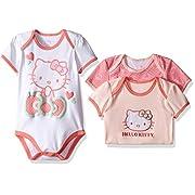 Hello Kitty Baby Core Blushing Pink Bodysuits, Blushing Bride, 12 Months