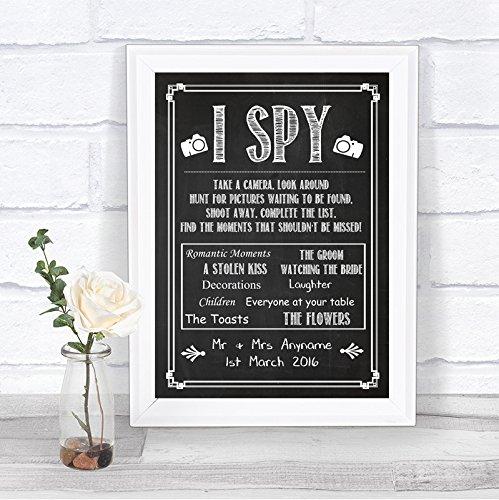 Chalkboard Style I Spy Disposable Camera Take Photos