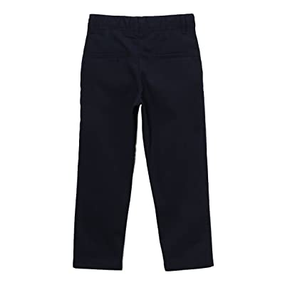unik Boy's Uniform Twill Pants Flat Front Pants, BU02 Navy Size 14
