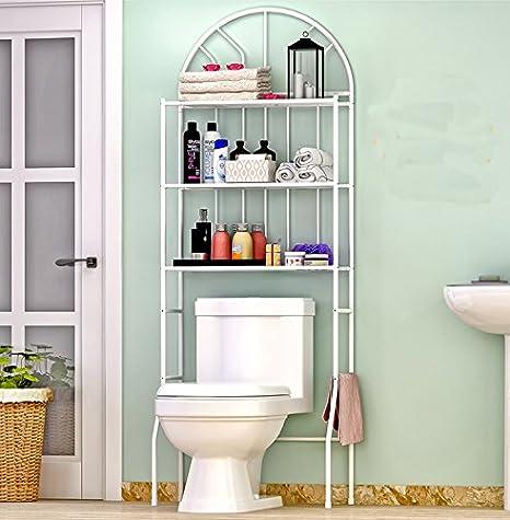 Estantería para baño (3 estantes, más de baño toalla de hierro ahorro de espacio de almacenamiento Rack organizador: Amazon.es: Hogar