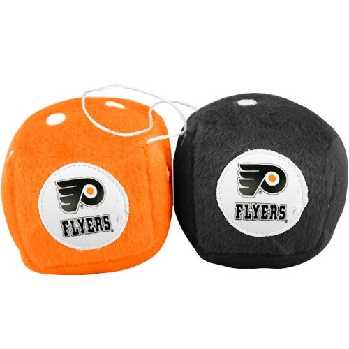 - Fremont Die NHL Philadelphia Flyers Fuzzy Dice, 3