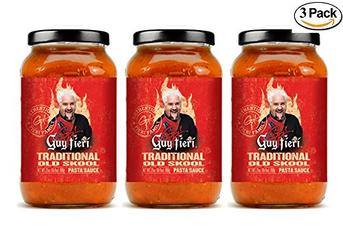 Guy Fieri Old Skool Traditional Pasta Sauce 25 oz (3 - Sauce Guy