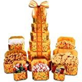 PACK OF 2 - Alder Creek Holiday Tower Gift Set,7 pc set, truffles,brittle,cookies,and popcorn.