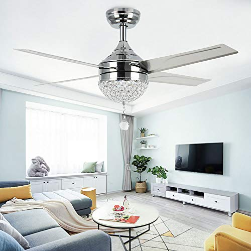 Ceiling Fans Ceiling Lights & Fans 220v 42 Inch Modern Simple Ceiling Fans With Lights Remote Control Abs Leaf 3 Colors Change Suit For Office Living Room Parlor Long Performance Life