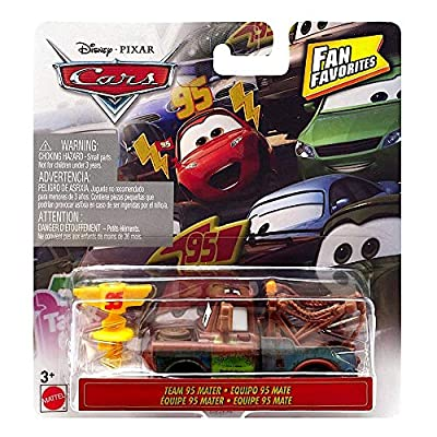 Disney Cars Team 95 Mater Fan Favorites Diecast 1:55 Scale: Toys & Games