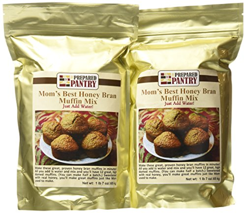 The Prepared Pantry Mom's Best Honey Bran Just-Add-Water Muffin Mix, 46 Ounce by The Prepared Pantry