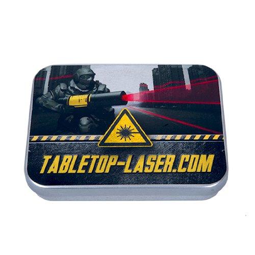 Roter Linienlaser für Tabletop Spiele. Helle und gut sichtbare Laserlinie für das Anzeigen von Sichtlinien