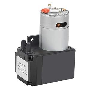Vacuum Pump, DC 24V 12W Mini Vacuum Pump Water Air Gas Vacuum Pump 80KPa Flow 10L/min Oilless Vacuum Pump, Mini Air Pump Motor