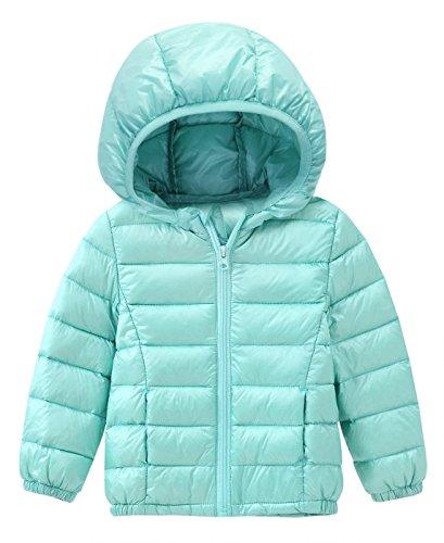 Happy Cherry Unisex Kids Puff Down Jacket Ear Hooded Padding Coat Outwear 1-6T