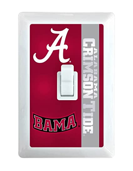 Amazoncom Ncaa Alabama Crimson Tide Led Illuminated Light Switch