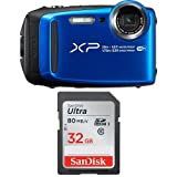 #7: Fujifilm FinePix XP120 Waterproof Digital Camera Blue & SanDisk 32GB Ultra Class