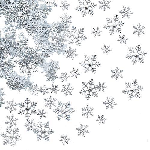 Winter Decorations - 750pcs Snowflakes Confetti for Winter Wonderland