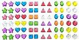 288 Piece Glitter Sparkle Stick-on Earrings - 288 Earrings - Multiple Colors & Shapes - Girls, Teens