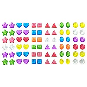 - 51TLlHZF3vL - 288 Piece Glitter Sparkle Stick-on Earrings – 288 Earrings (144 Pair) – Multiple Colors & Shapes – Girls, Teens