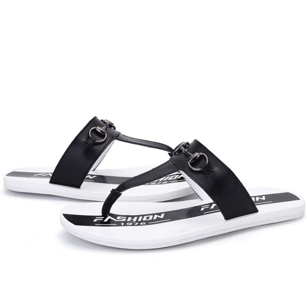 Wangcui Sommer-Pantoffel Rutschfeste Clip Füße Sandalen und Schwarze Hausschuhe : (Farbe : Braun, Größe : Hausschuhe 41 1/3 EU) Schwarz cc9f42