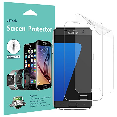 JETech Screen Protector for Samsung Galaxy S7, TPE Ultra HD Film, Full Screen Coverage, 2-Pack (Mirror Film Screen)